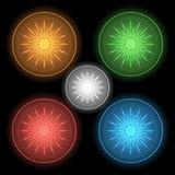 Neonowi guziki Obraz Royalty Free