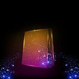 Neonowi Kolorowi torba na zakupy Fotografia Stock