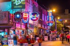 Neonowi znaki na Beale ulicie Zdjęcie Stock