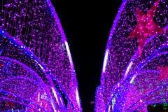 Neonowy światło w nowym roku Obrazy Royalty Free