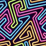Neonowy Bezszwowy wzór Zdjęcia Royalty Free