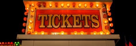 Neonowy bileta znak Obraz Stock