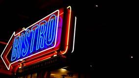 Neonowy bistro znak zdjęcia royalty free