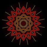 Neonowy Celtycki słońce Obrazy Royalty Free