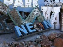 Neonowy cmentarz Zdjęcie Royalty Free
