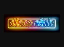 Neonowy dyskoteka klubu znak ilustracji