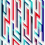 Neonowy geometryczny bezszwowy wzór ilustracja wektor