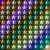 Neonowy gwiazdy tło Obrazy Royalty Free