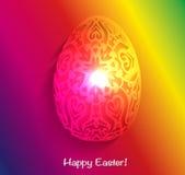 Neonowy jajko Ilustracji