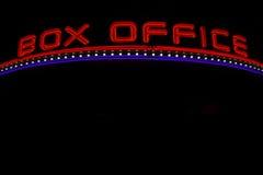 Neonowy kasa teatralna znak Obrazy Stock