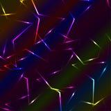 Neonowy kolorowy laser bended krzyżować linie, multicolor tło Obraz Royalty Free
