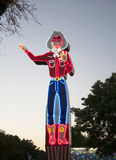 Neonowy kowboja znak przy Teksas stanu jarmarkiem obrazy stock
