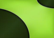 Neonowy kształt na Kruszcowym Kropkowanym siatki tle ilustracja wektor