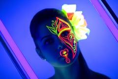 Neonowy kwiat uzupełniał Obraz Royalty Free