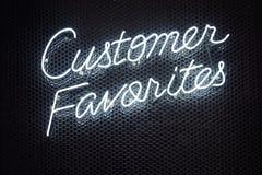 Neonowy literowanie chrzcielnicy pisma światła typ Detalicznego sklepu biznes zdjęcia royalty free