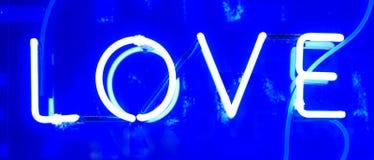 Neonowy miłość znak Obrazy Stock