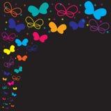 Neonowy motyl Fotografia Royalty Free