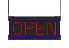 Neonowy Otwiera znaka Zdjęcie Royalty Free