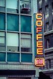 Neonowy sklep z kawą bar Obrazy Royalty Free