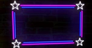 Neonowy tło na ścianie 2 ilustracja wektor