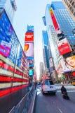 Neonowy USA flaga kwadrat czasami, NYC Zdjęcia Royalty Free