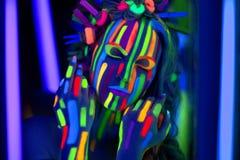 Neonowy Uzupełniał Obrazy Royalty Free
