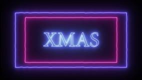 Neonowy znak «Xmas « ilustracji