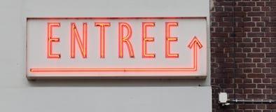 Neonowy znak - danie główne zdjęcie stock