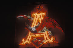 Neonowy znak który czyta ï ¿ ½ Aï ¿ ½ Zdjęcie Royalty Free