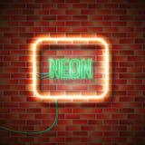 Neonowy znak na ścianie Zdjęcie Royalty Free