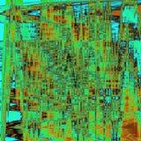 Neonowy zygzakowaty abstrakcjonistyczny tekstura kalejdoskop w świeżych kolorach Obraz Stock