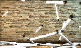 Neonowych żarówek spadać puszek Obrazy Stock