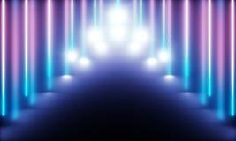 Neonr?r med underbart ljus royaltyfri illustrationer