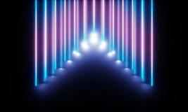 Neonr?r med underbart ljus vektor illustrationer