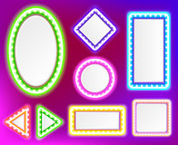 Neonrahmen für Text Stockfotografie