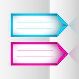 Neonrahmenaufkleber Lizenzfreies Stockbild