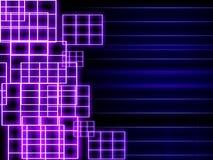 Neonrasterfeldhintergrund Stockfotos