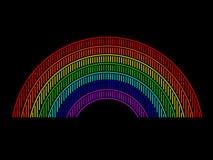 Neonregnbåge Arkivbild
