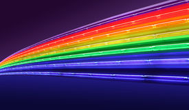 neonregnbåge Royaltyfria Foton