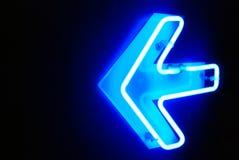 Neonrichtung Stockbilder