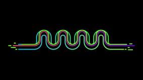 Neonschallwelleentzerrervektorhintergrund Lizenzfreie Stockbilder