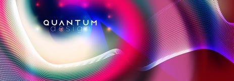 Neonscheinwerfer auf flüssigem abstraktem Vektorentwurf vektor abbildung