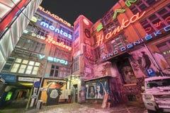 Neonseite, Breslau, Schlesien, Polen, Europa lizenzfreies stockfoto