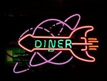 Neonsign Restaurant Stockbild