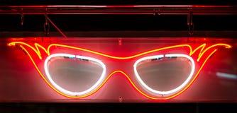 Neonspezifikt.-Zeichen Stockfoto
