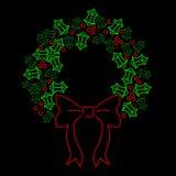 Neonstechpalme Wreath Stockfotos