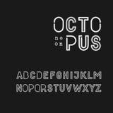 NeonstilSans Serif stilsort Arkivfoto