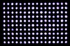Neonstrålkastare på en svart bakgrund Arkivfoto