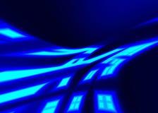 Neonstrahlen Stockbild