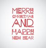Neontecken med bokstäver av jul Royaltyfri Bild